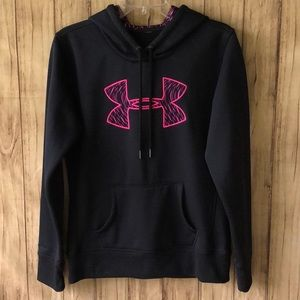 Women's Under Armour Black/Pink Hoodie Size Small